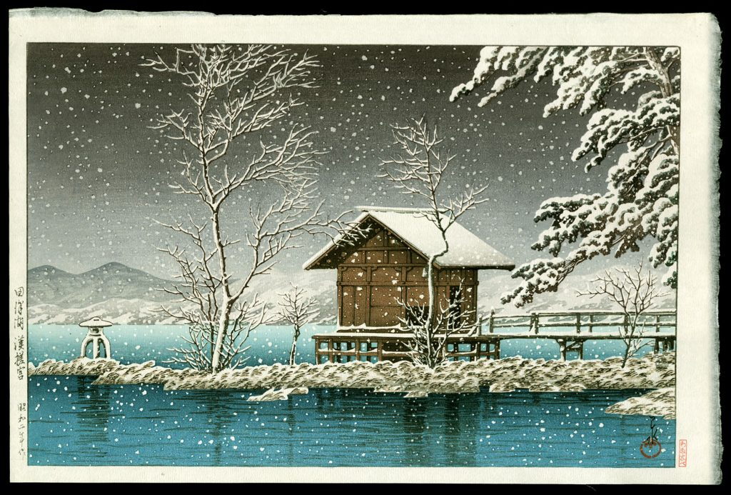 A Small Shrine in Snow, Tazawa Lake