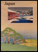 The Miyajima Shrine in Snow, mounted on Japan Travel Poster