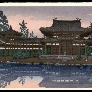 Dusk at Byodo Temple Hasui