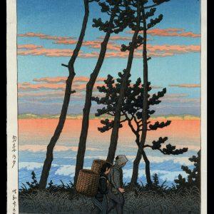 Dusk at Nakoso Hasui