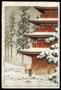 Saishoin Temple in Snow, Hirosaki