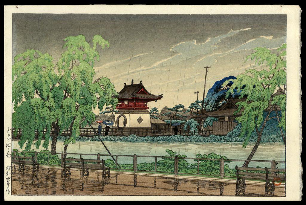 Rain at Shinobazu Pond