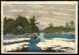 Lingering Snow at Sensoko Pond