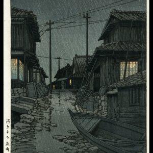 Evening in Kawarago Hasui