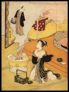 Courtesan Imagining her Lover in the Smoke