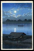 Moon on the Ara River, Akabane