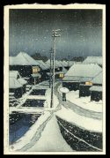 Evening Snow at Terashima Village