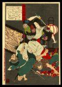 Kasuga no Tsubone Fighting a Robber