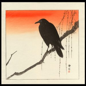 Crow on a Willow Branch Seiko c. 1900