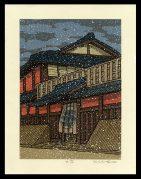 Falling Snow at the Ichiriki Tea House