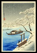 River Sumida in Snow