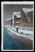 Snow at Shinkawabata, Handa, Bishu