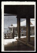 Snowfall at Kiyomizu Temple. Kyoto