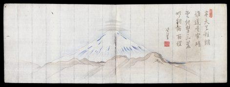 Clouds Above Peak of Mt. Fuji