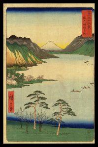 Lake Suwa in Shinano Province Hiroshige