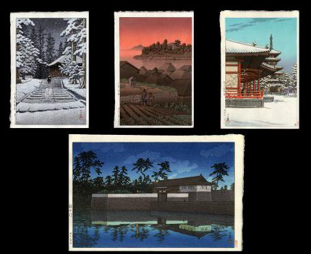 Four Hasui Designs