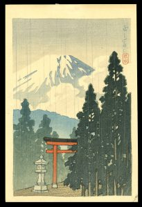 Mt. Fuji in the Rain Hasui